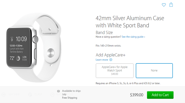 Apple Watch Pushed Back To July