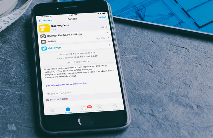 Fix-iOS-Date-Bug-with-BrickingDate-Cydia-Tweak