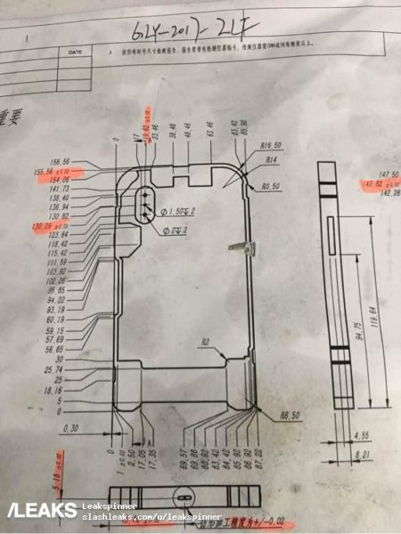 iPhone 8 Mold And Diagram With Vertical Dual Cameras Leaked