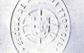 Selo branco da Escola de Medicina Tropical