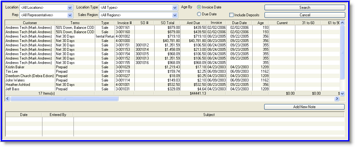 Iridium Accounts Receivable