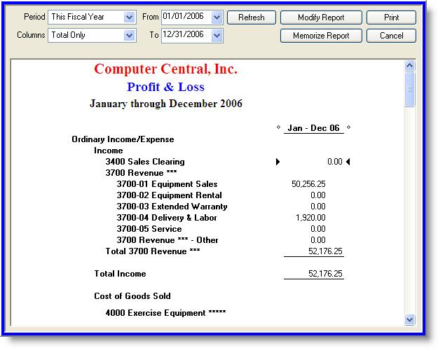 IRIDIUM \u003e General Ledger - profit and loss ledger