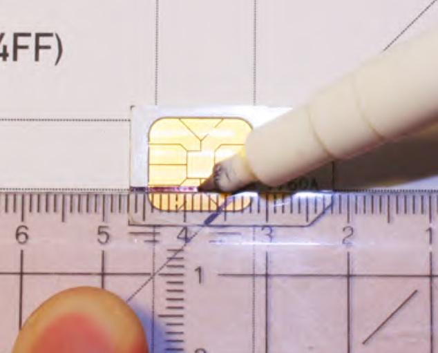 How To Transform Mini/Micro SIM Card Into Nano SIM iPhone 5 - micro sim template