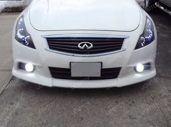 Nissan Infiniti OEM Fit 18W LED Fog Lights with Angel Eye Halo Rings