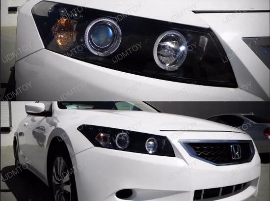 08-12 Honda ACCORD Coupe Black Halo Angel Eyes Projector Headlight