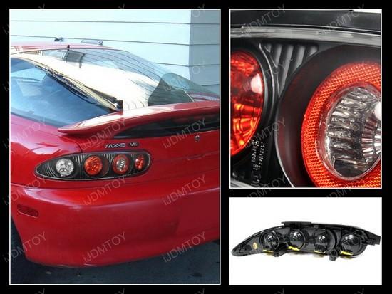 92-95 Mazda MX3 Altezza Style Black Euro Taillight Tail Lamps