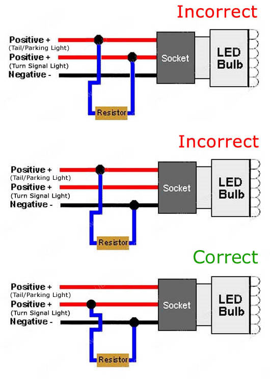 Led Resistor Wiring Diagram Wiring Diagram