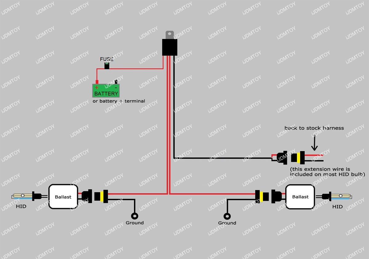 hid relay harness diagram