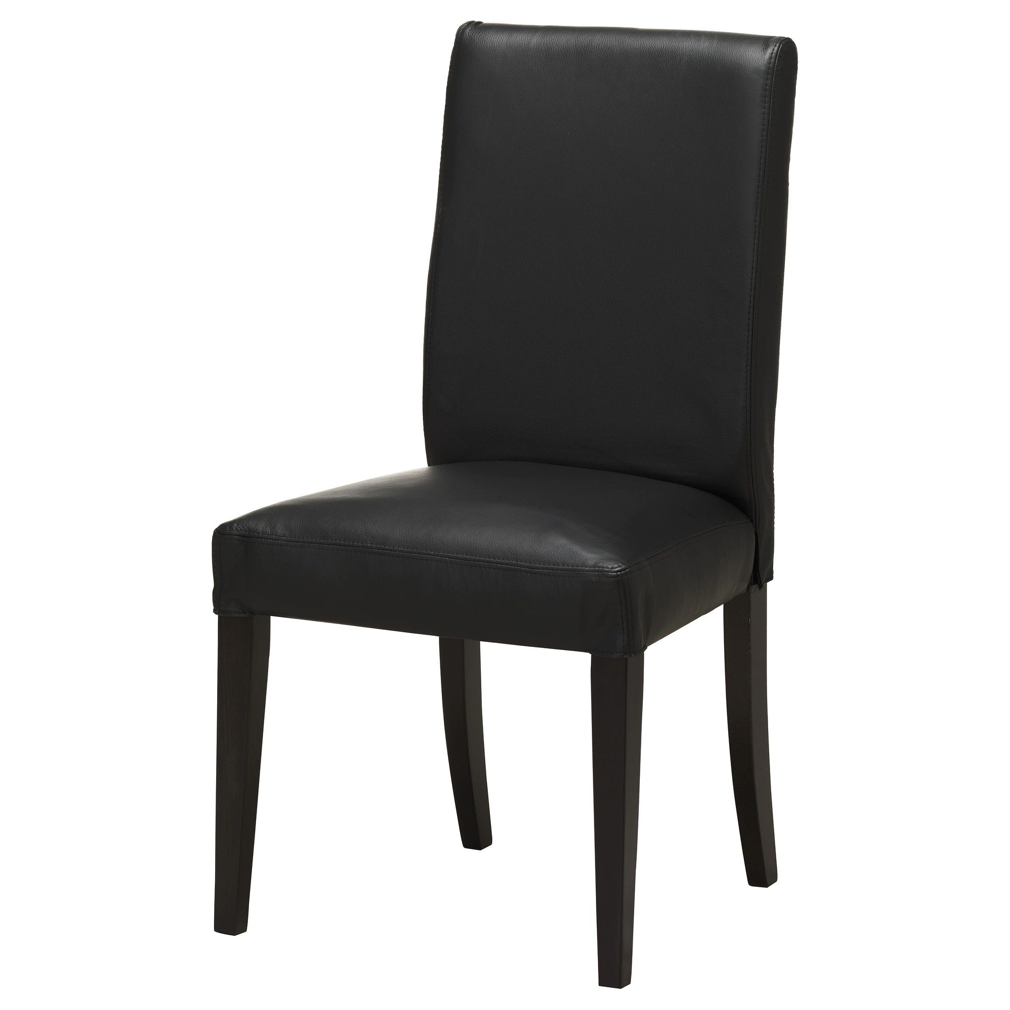 Henriksdal chair brown black glose black tested for 243 lb width