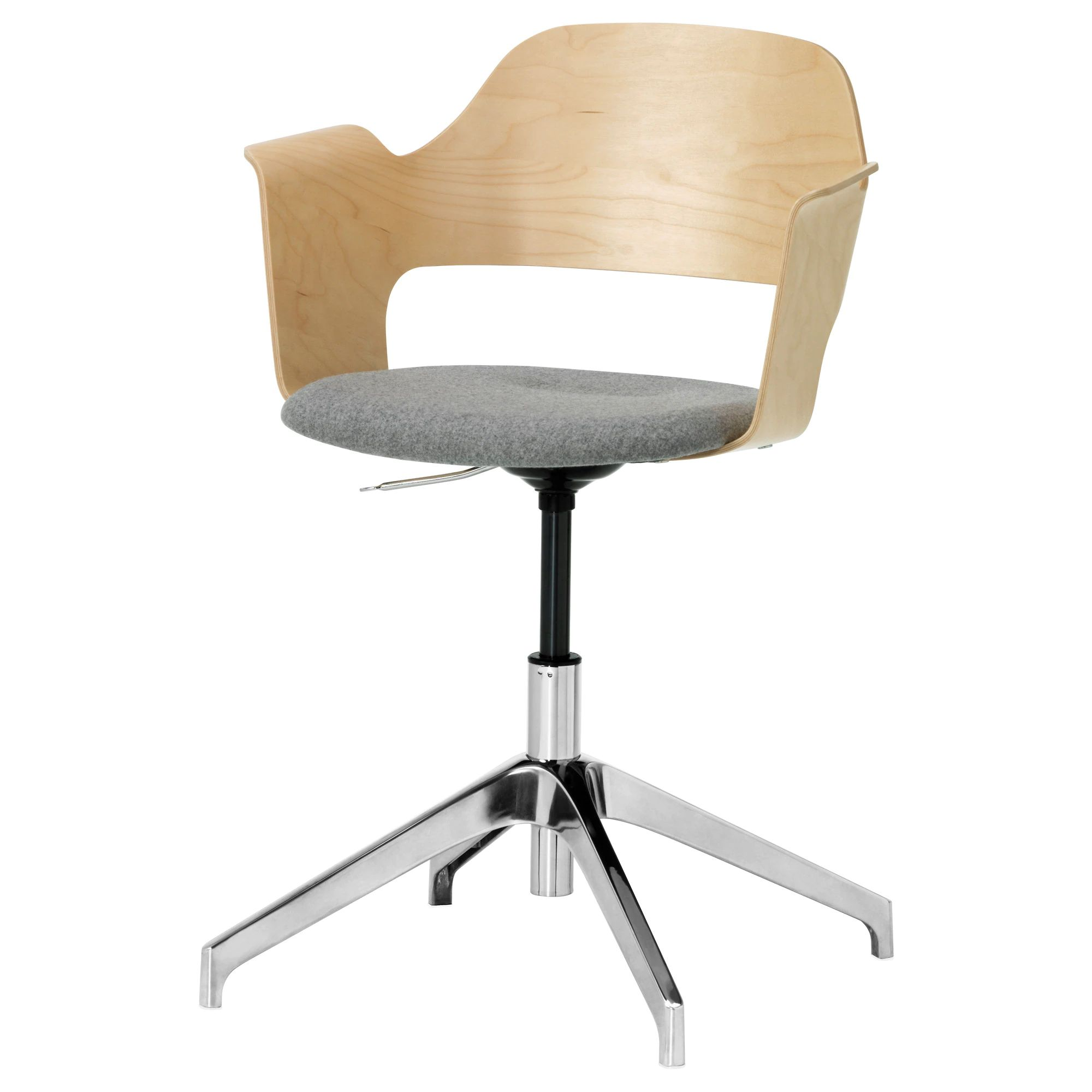 Fj llberget conference chair birch veneer ullevi gray medium gray gray tested for 242