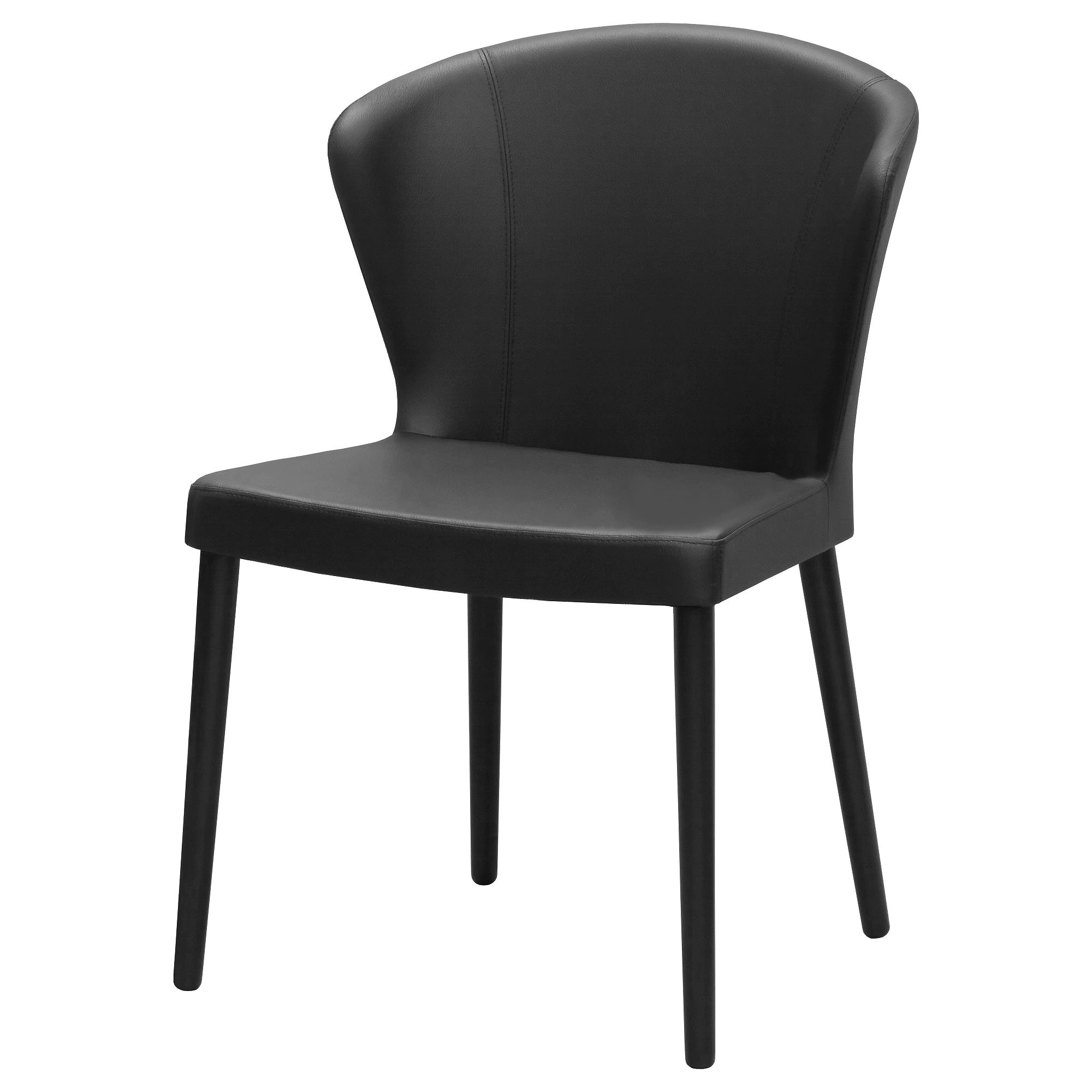 Oddmund chair idhult black stained idhult black width 22 depth 18