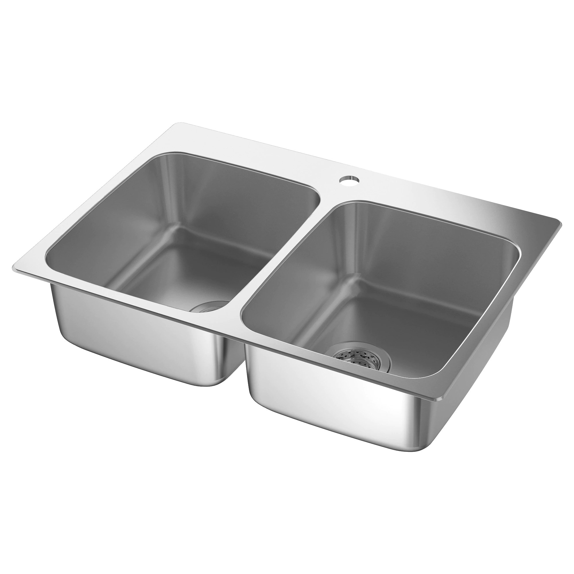 kitchen sink L NGUDDEN double bowl top mount sink stainless steel Length 29 1 2