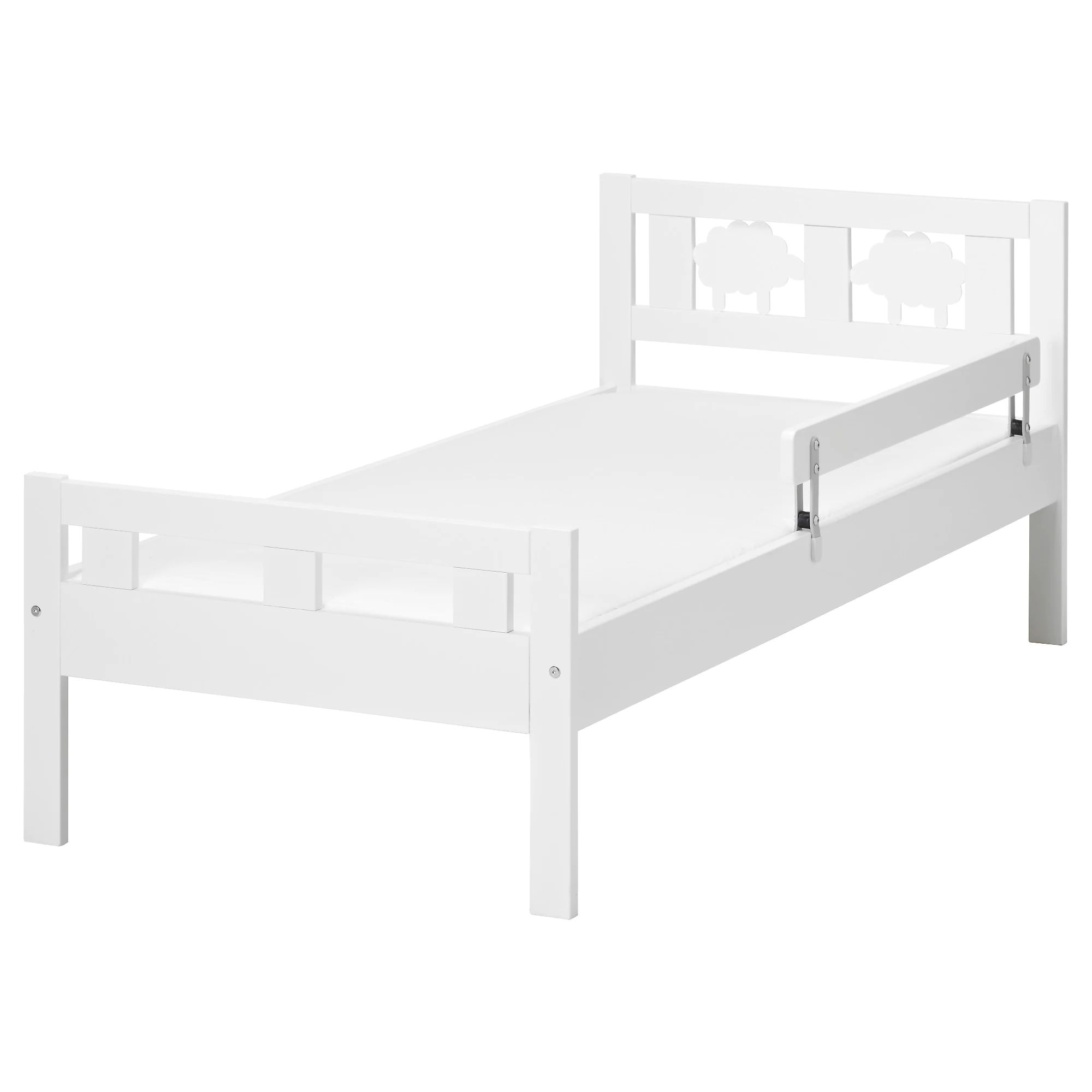 Kritter bed frame with slatted bed base white length 65 width 29
