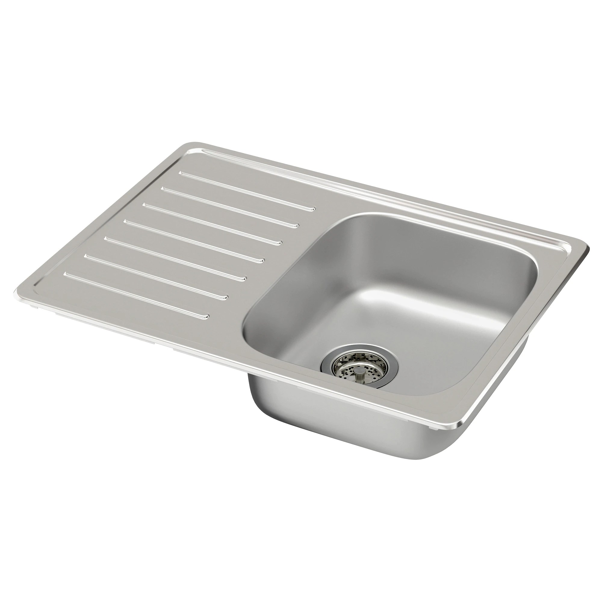 kitchen sink FYNDIG single bowl top mount sink stainless steel Length 27 1 2