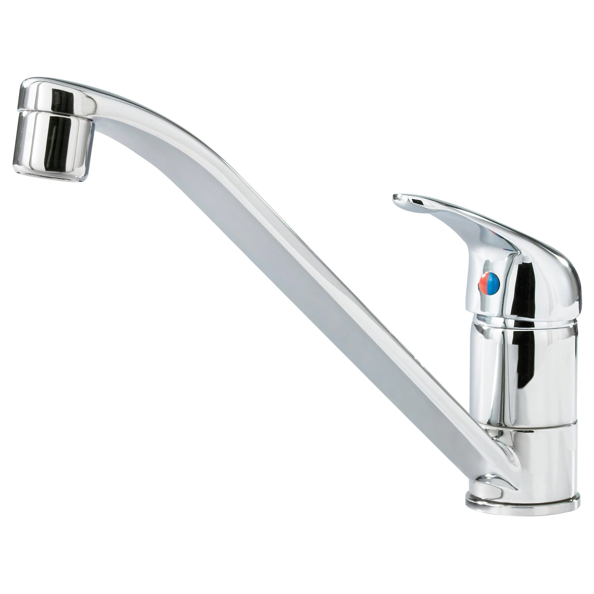 kitchen sinks and faucets LAGAN single lever kitchen faucet chrome plated Height 6 1 4 Height