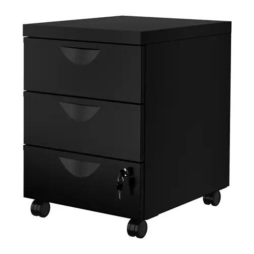 ERIK Rollcontainer mit 3 Schubladen - schwarz - IKEA - badezimmer rollcontainer