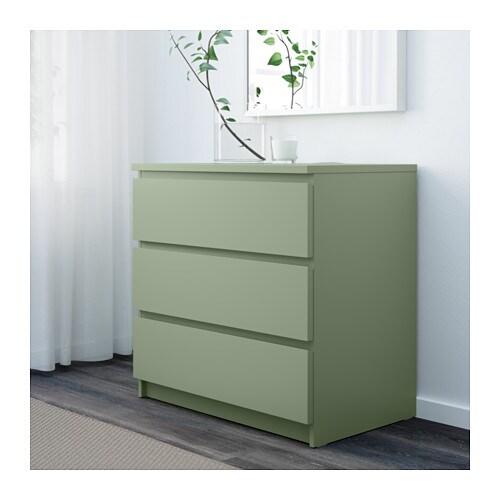 MALM Kommode mit 3 Schubladen - weiß - IKEA - esszimmer kommode ikea