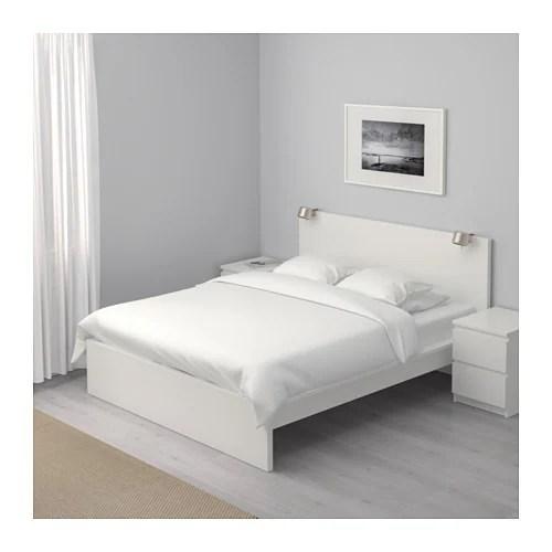 MALM Bettgestell hoch - 180x200 cm, - - IKEA - schlafzimmer mit malm bett 2