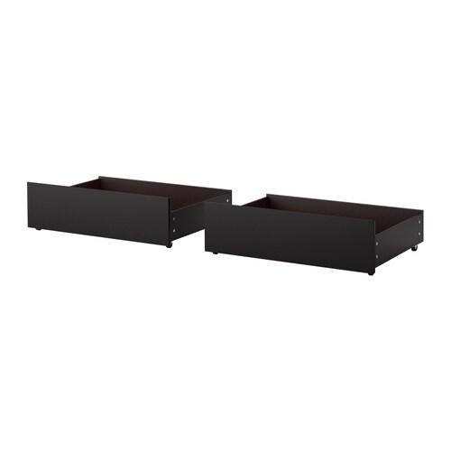 MALM Bettkasten für Bettgestell hoch - schwarzbraun - IKEA - schlafzimmer mit malm bett 2