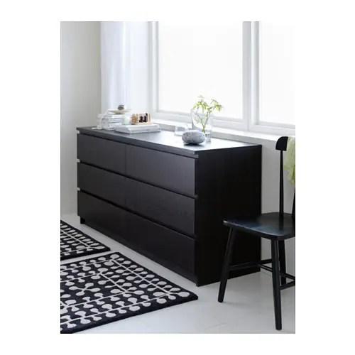MALM Kommode mit 6 Schubladen - weiß - IKEA - esszimmer kommode ikea
