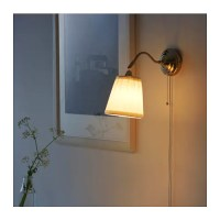 RSTID Wall lamp Nickel-plated/white - IKEA