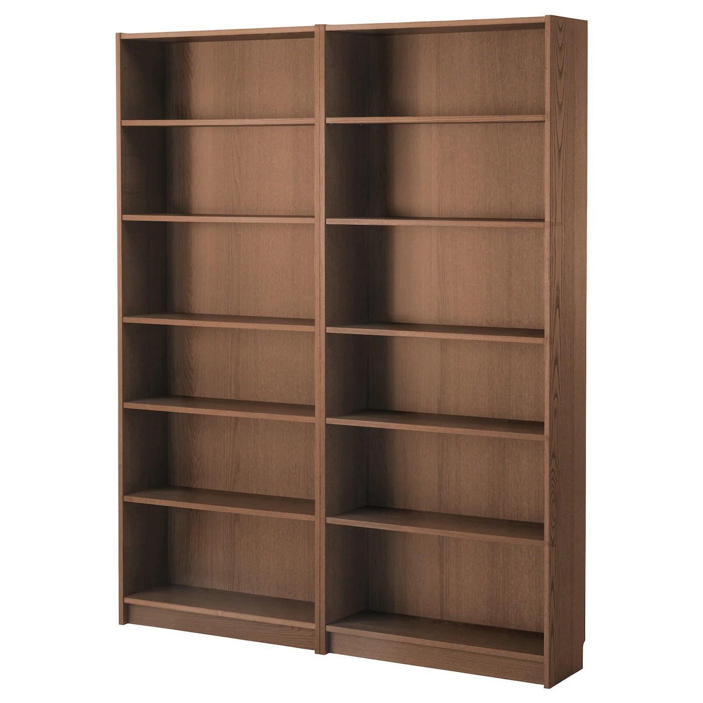 Billy Bookcase Brown Ash Veneer 160x202x28 Cm Ikea