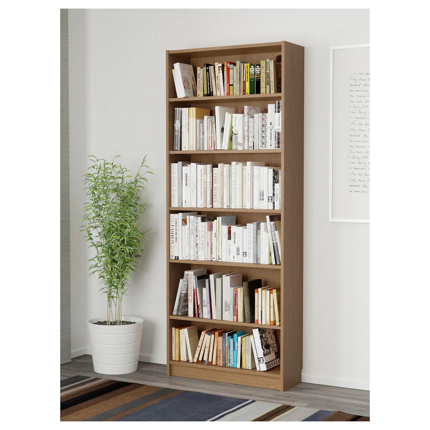 Billy Bookcase Oak Veneer 80 X 28 X 202 Cm Ikea