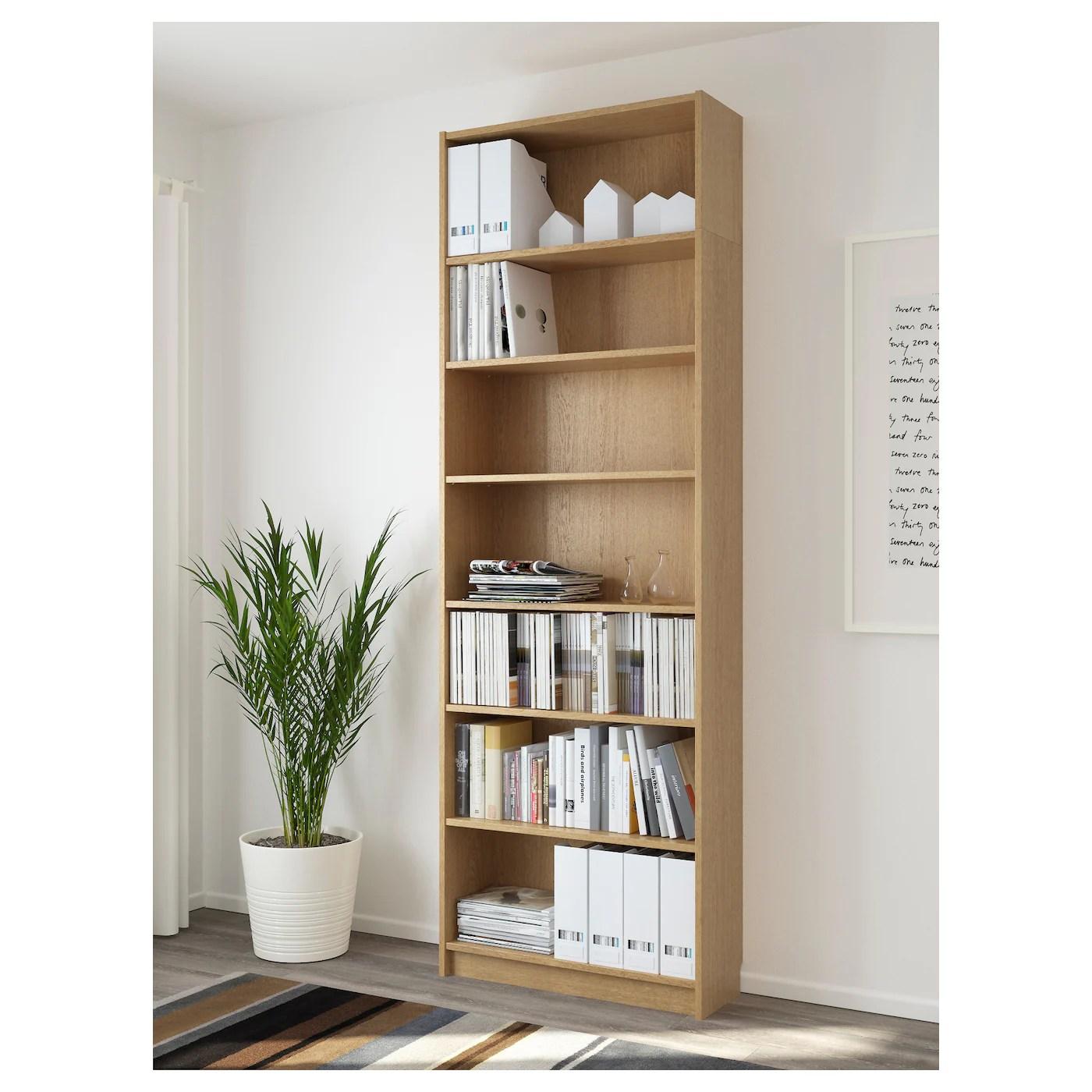 Billy Bookcase Oak Veneer 80 X 237 X 28 Cm Ikea