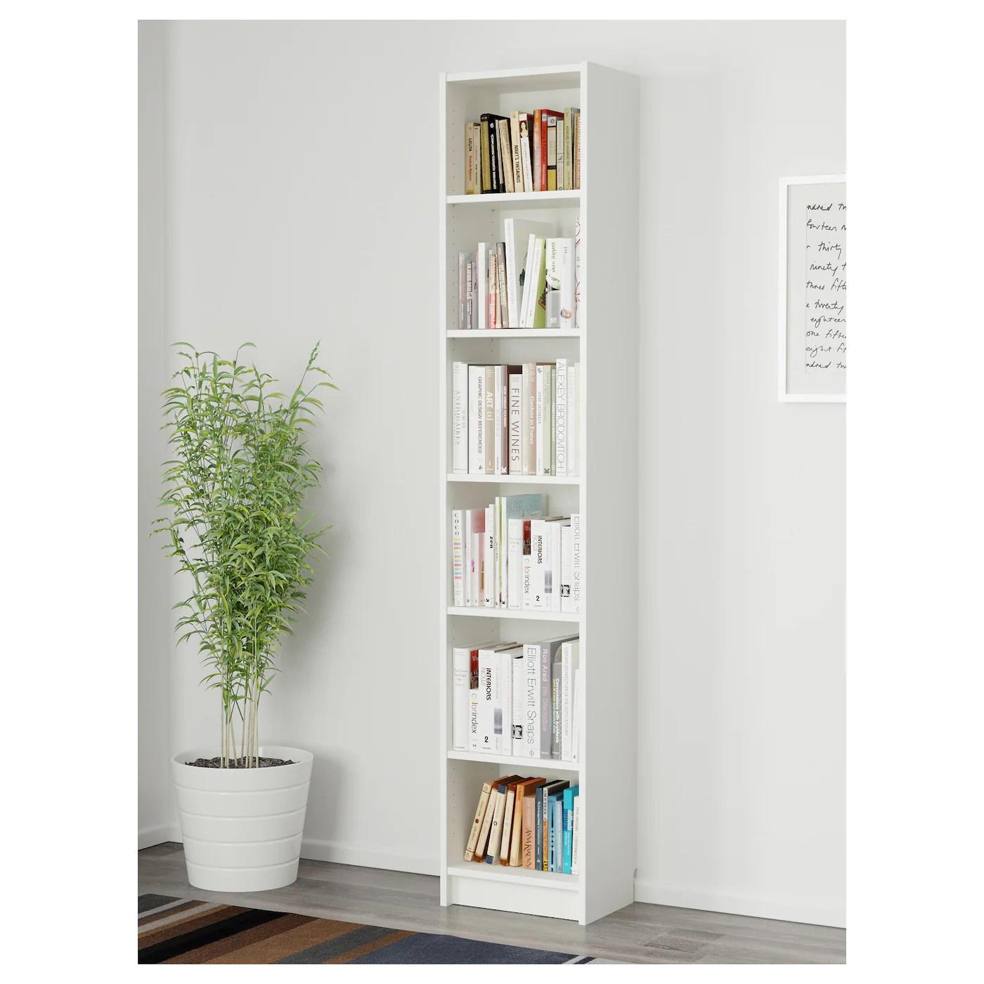 Billy Bookcase White 40 X 28 X 202 Cm Ikea