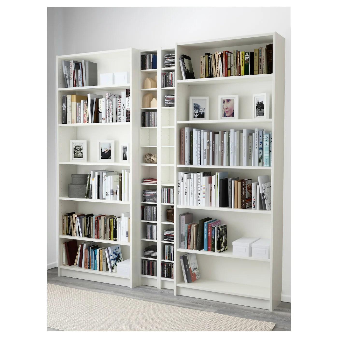 Billy Gnedby Bookcase White 200 X 202 X 28 Cm Ikea