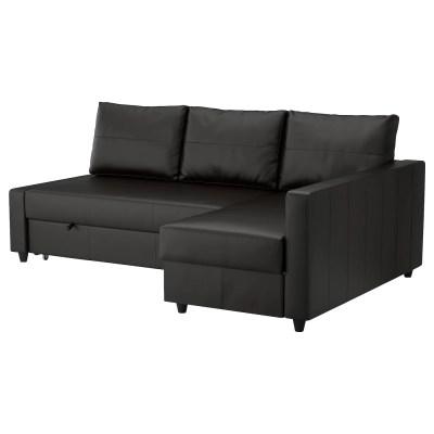 FRIHETEN Corner sofa-bed with storage Bomstad black - IKEA