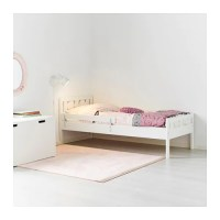 KRITTER Bed frame with slatted bed base White 70x160 cm - IKEA