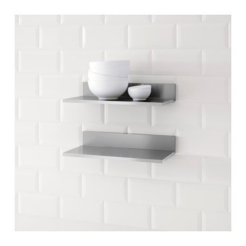 Limhamn Wall Shelf Stainless Steel 40x20 Cm Ikea