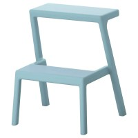 MSTERBY Step stool Light blue - IKEA