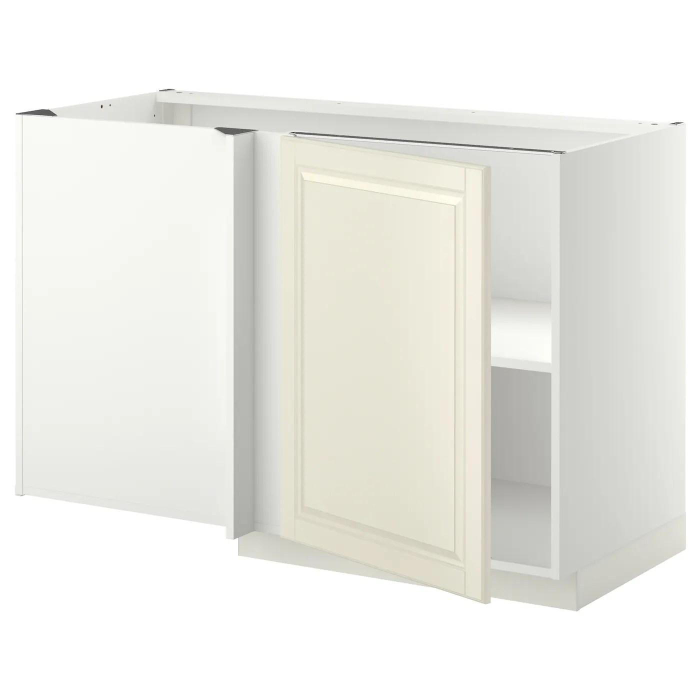 Metod Corner Base Cabinet With Shelf White Bodbyn Off