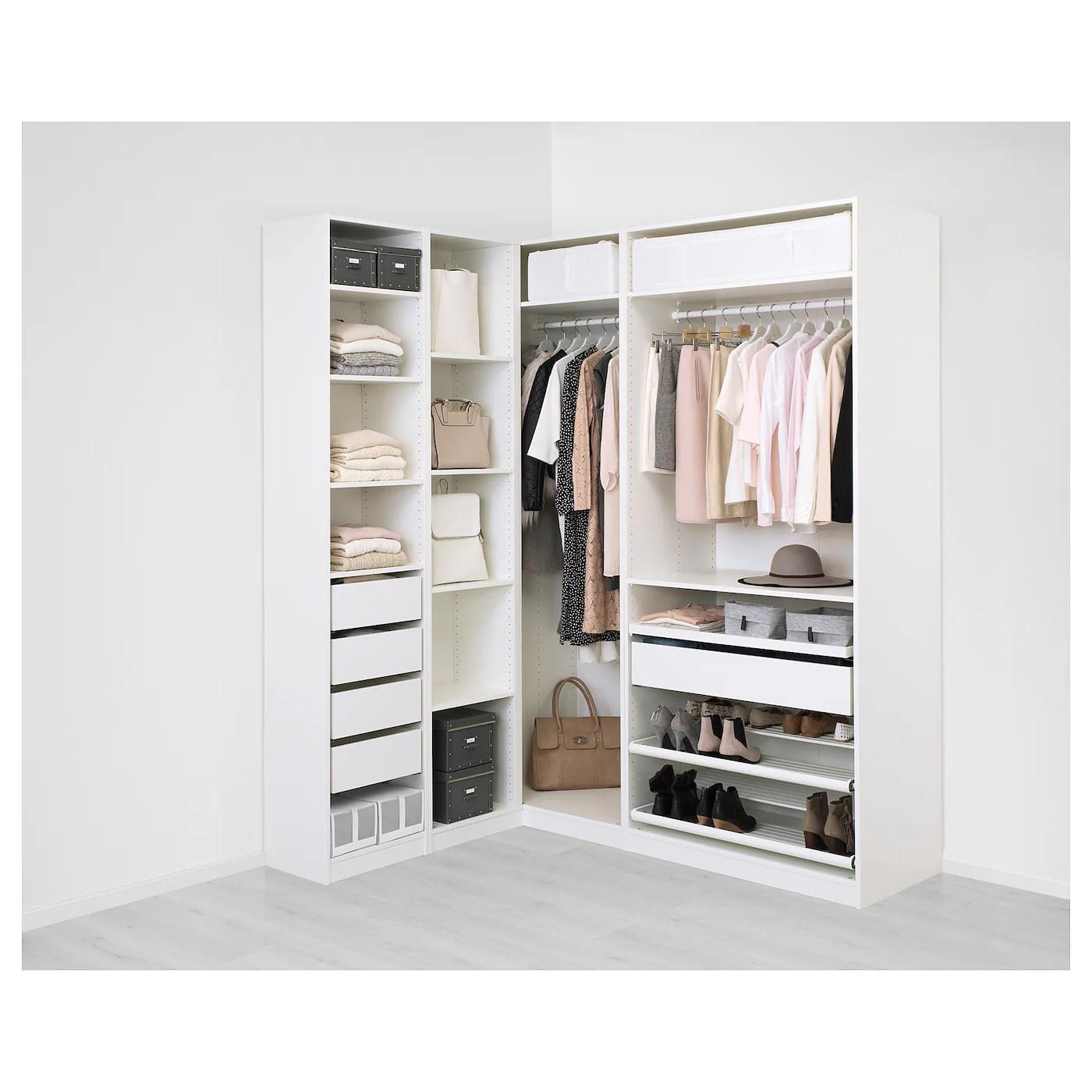 Pax Corner Wardrobe White Flisberget Light Beige 160 188 X