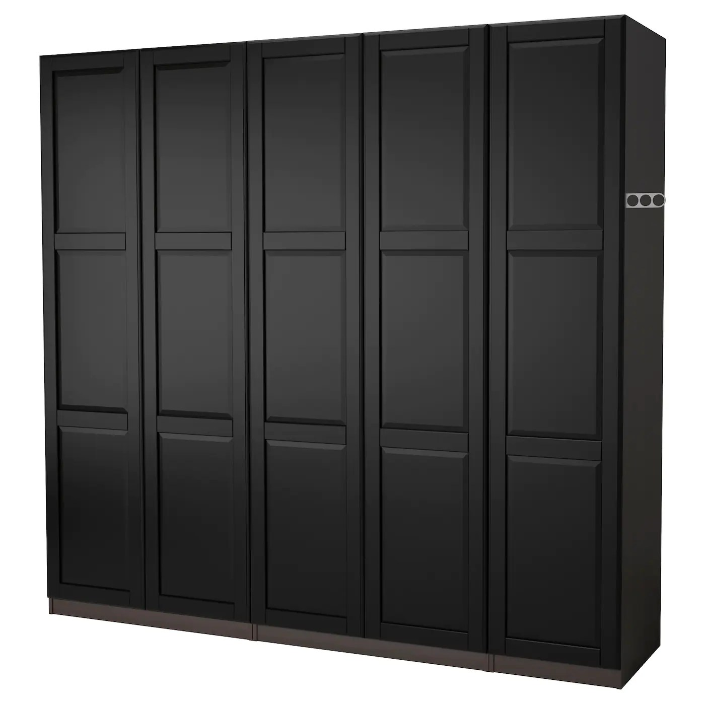Pax Wardrobe Black Brown Undredal Black 250x60x201 Cm Ikea