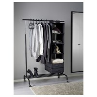 RIGGA Clothes rack Black - IKEA