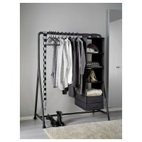 TURBO Clothes rack, in/outdoor Black 117 x 59 cm - IKEA