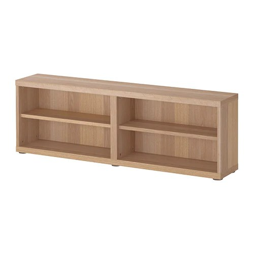 Besta Shelf Unit Height Extension Unit White Stained Oak