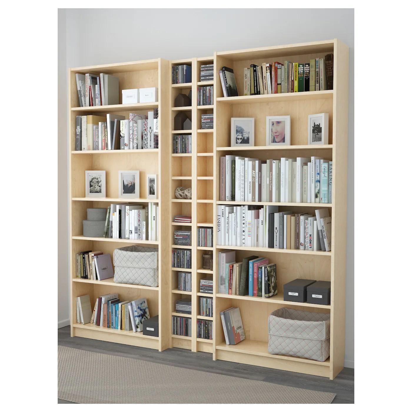 Billy Gnedby Bookcase Birch Veneer 200x202x28 Cm Ikea