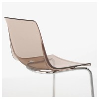 TOBIAS Chair Brown/chrome-plated - IKEA