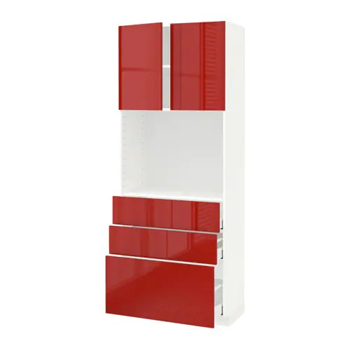 Metod High Cabinet W Shelves 3 Drawers Ringhult High