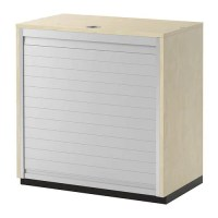 GALANT Roll-front cabinet - birch veneer - IKEA