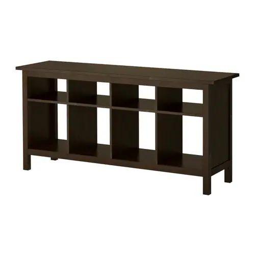 Hemnes sofa table black brown ikea