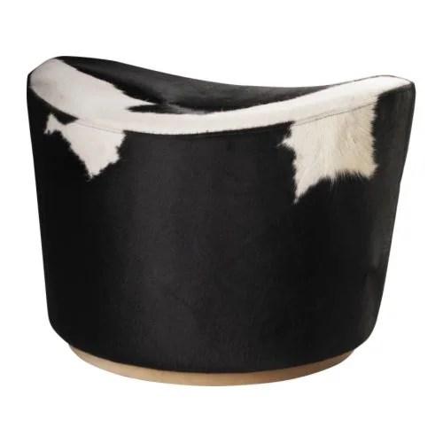 "IKEA STOCKHOLM Footstool, Delikat white, black Width: 23 5/8 "" Depth: 20 1/8 "" Height: 16 1/8 ""  Width: 60 cm Depth: 51 cm Height: 41 cm"