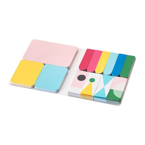 KNALLGUL Folder with sticky notes - IKEA