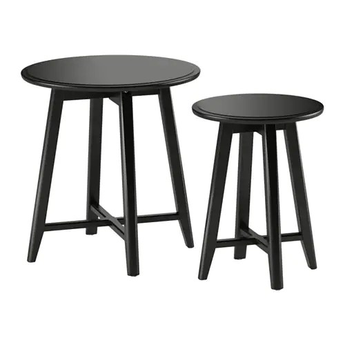 Black Round Dining Room Table KRAGSTA Nesting tables, set of 2 - black - IKEA