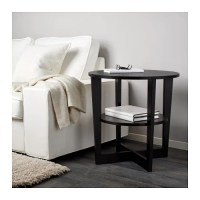 VEJMON Side table - black-brown - IKEA