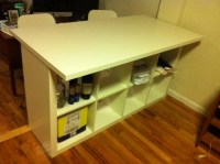 Expedit Breakfast bar / Desk - IKEA Hackers